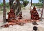 Himba ladies sell handicrafts